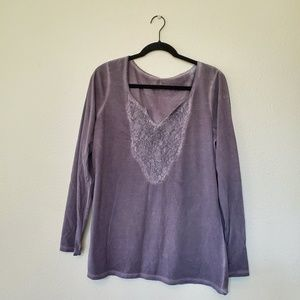 NWOT Maurices Lace Front Top